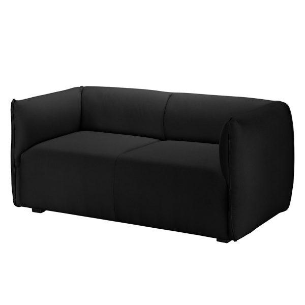 Sofa Grady I (2-Sitzer) Webstoff - Anthrazit
