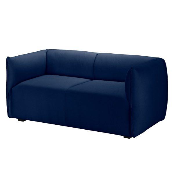 Sofa Grady I (2-Sitzer) Webstoff - Dunkelblau