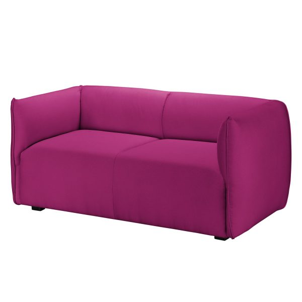 Sofa Grady I (2-Sitzer) Webstoff - Fuchsia