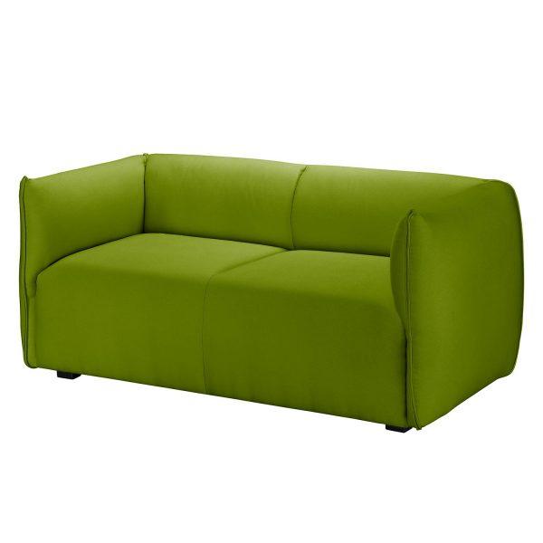 Sofa Grady I (2-Sitzer) Webstoff - Grasgrün