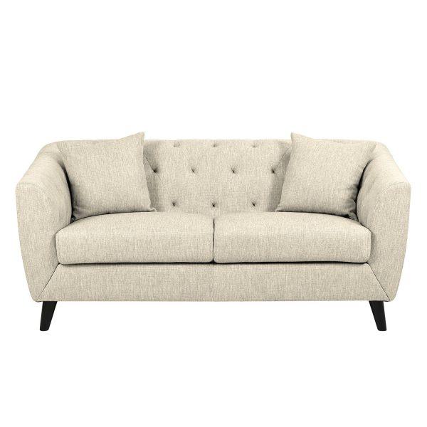 Sofa Nonato (2Sitzer) - Webstoff - Beige