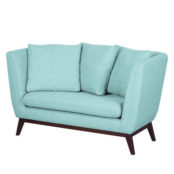Sofa Sagone (2-Sitzer) Webstoff - Hellblau