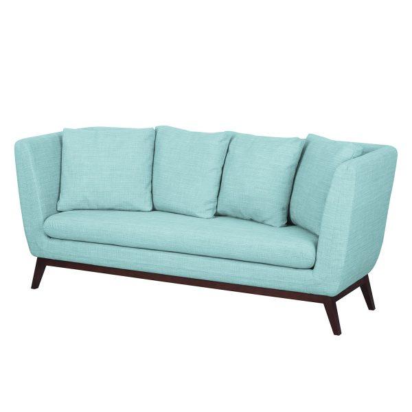 Sofa Sagone (3-Sitzer) Webstoff - Hellblau