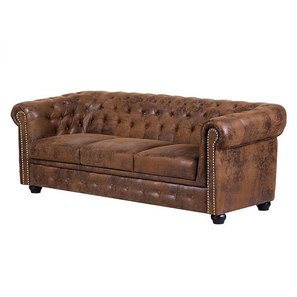 Sofa Torquay (3-Sitzer) - Antiklederoptik Braun