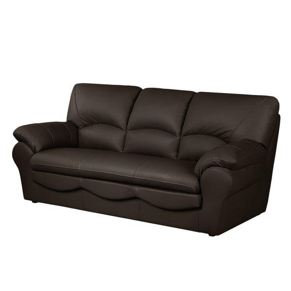 Sofa Torsby (3-Sitzer) - Kunstleder - Mit Schlaffunktion - Dunkelbraun