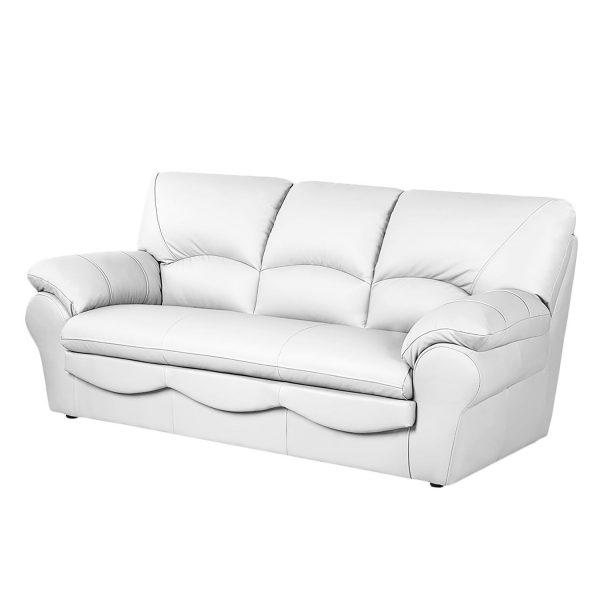 Sofa Torsby (3-Sitzer) - Kunstleder - Mit Schlaffunktion - Weiß