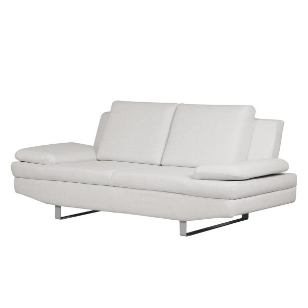 Sofa Yovanna (2-Sitzer) Webstoff - Kies