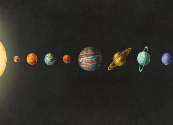 Solar system Leinwandbild