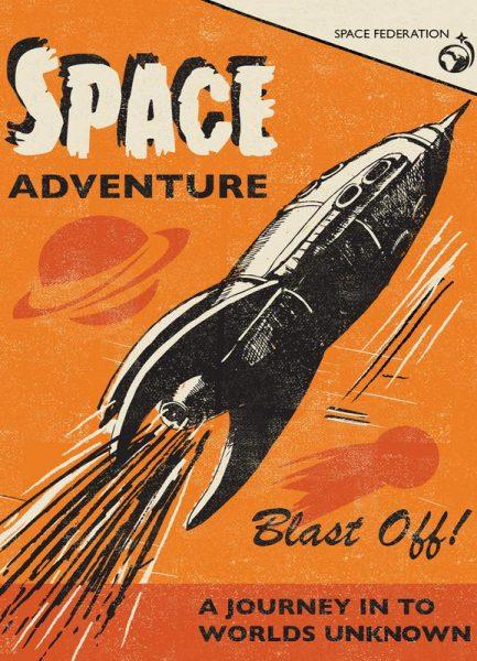 Space Adventure Leinwandbild