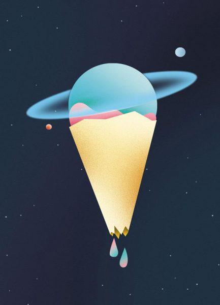 Space Cream Leinwandbild