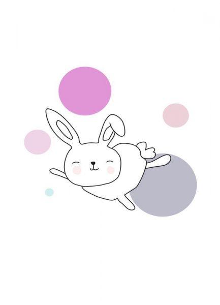 Space Rabbits Astra Leinwandbild