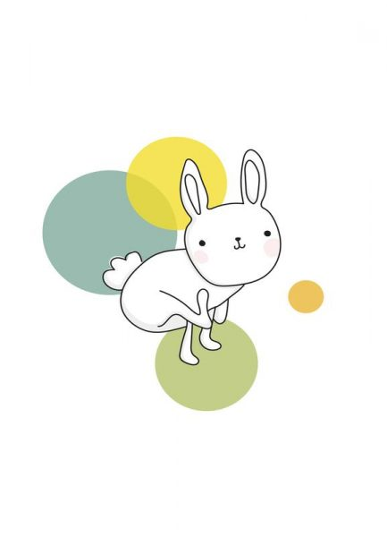 Space Rabbits Luna Leinwandbild