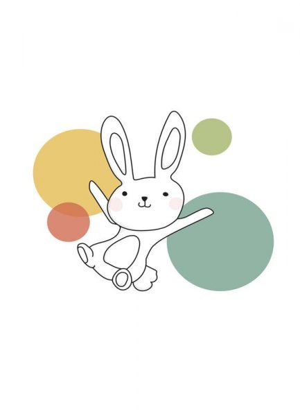 Space Rabbits Vega Leinwandbild