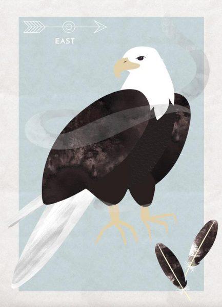 Spirit Animal Eagle Leinwandbild