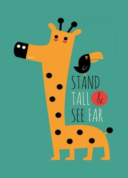 Stand Tall and See Far Leinwandbild