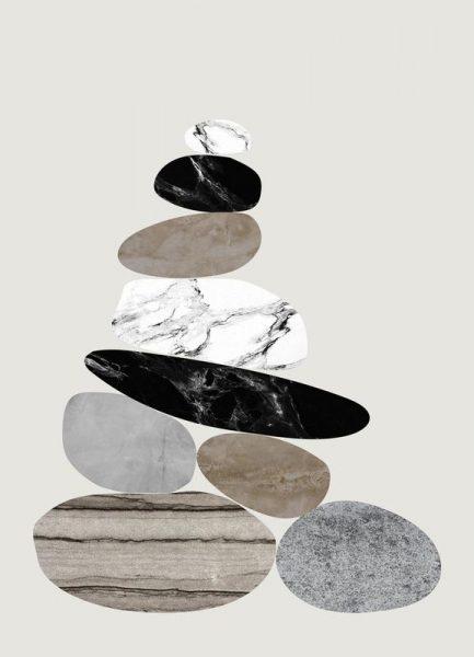Steinhaufen Leinwandbild