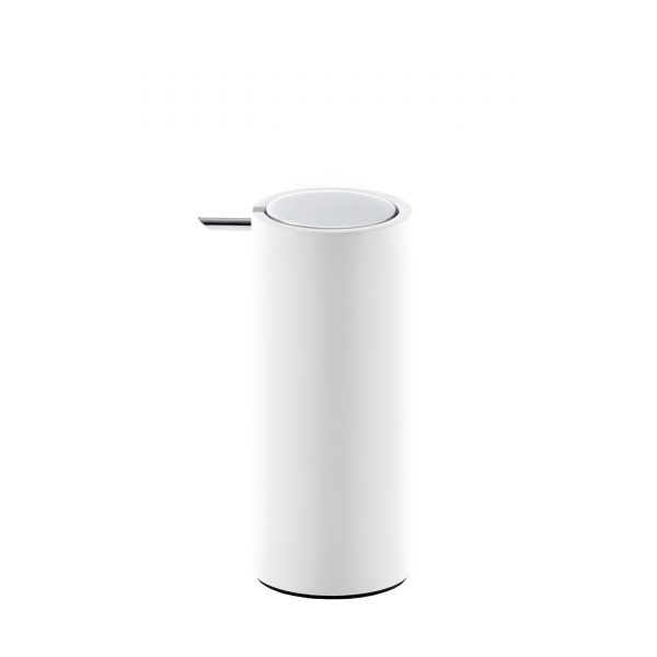 Stone Seifenspender weiß-chrom glänzend