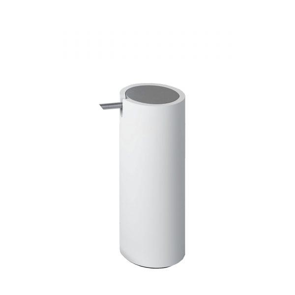 Stone Seifenspender weiß-chrom matt