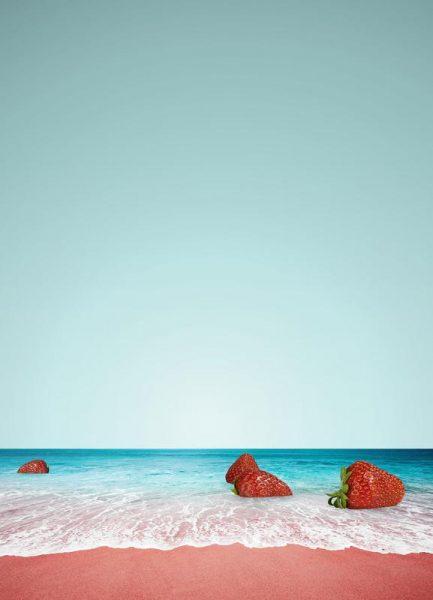 Strawberry Shores Leinwandbild