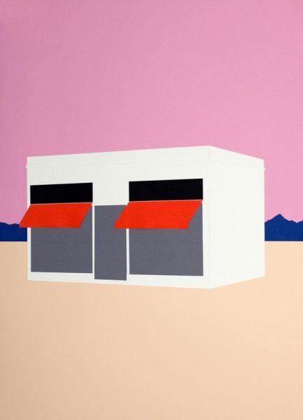 Sunset Boutique Leinwandbild