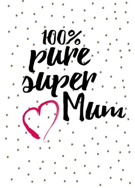 Super Mum Leinwandbild