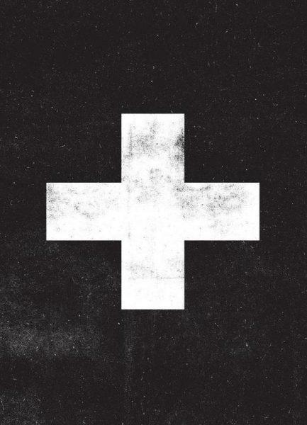 Swiss Cross Black Leinwandbild