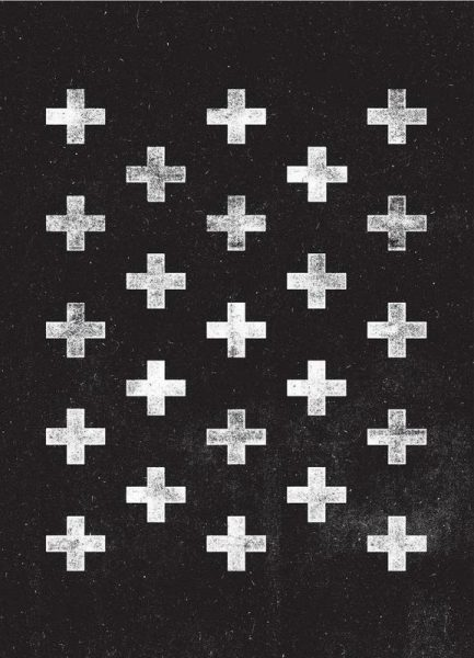 Swiss Cross Pattern Leinwandbild