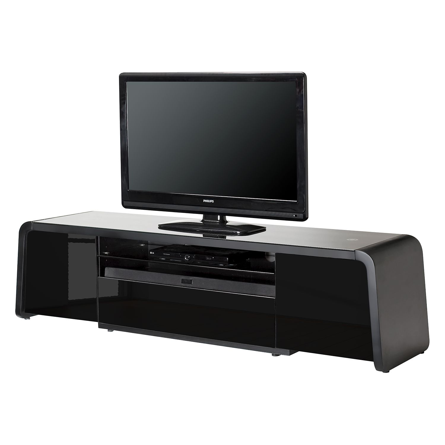 tv lowboard sl 4200 matt schwarz jahnke online kaufen bei woonio. Black Bedroom Furniture Sets. Home Design Ideas