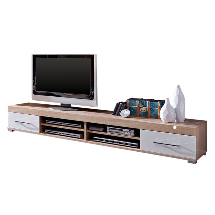 tv lowboard tocha sonoma eiche dekor wei hochglanz loftscape online kaufen bei woonio. Black Bedroom Furniture Sets. Home Design Ideas