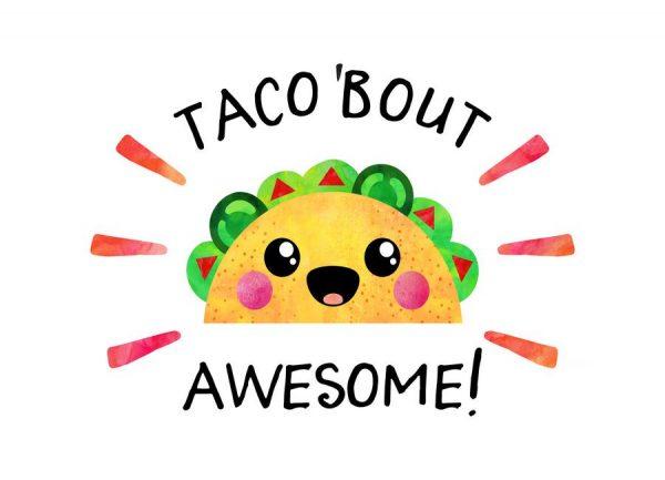 Taco Bout Awesome Leinwandbild
