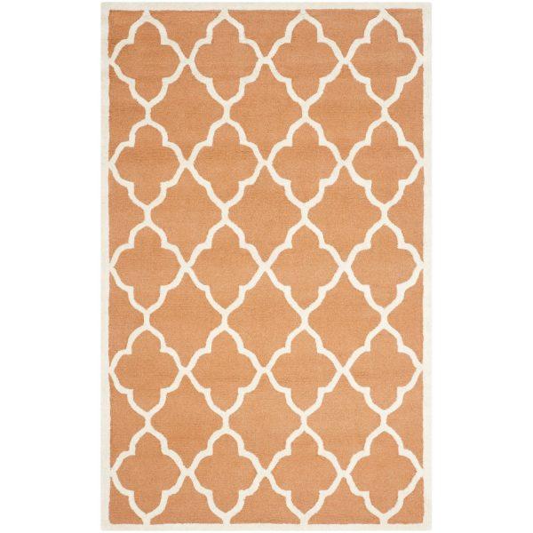 Teppich Noelle handgetuftet - Wolle - Bernstein - 121 x 182 cm
