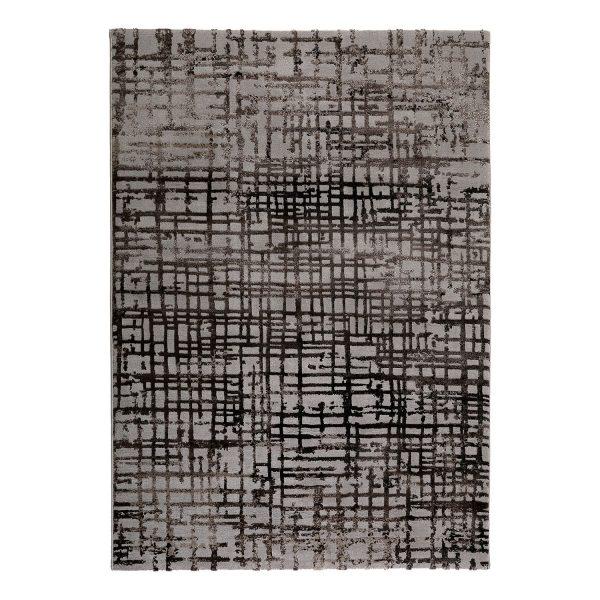 Teppich Velvet Grid - Kunstfaser - Taupe / Braun - 120 x 170 cm