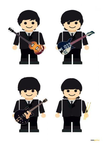 The Beatles Toy Leinwandbild