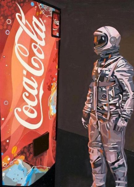 The Coke Machine Leinwandbild