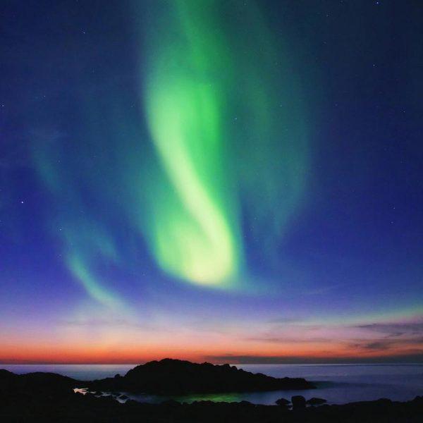 The Northern Lights 01 Leinwandbild