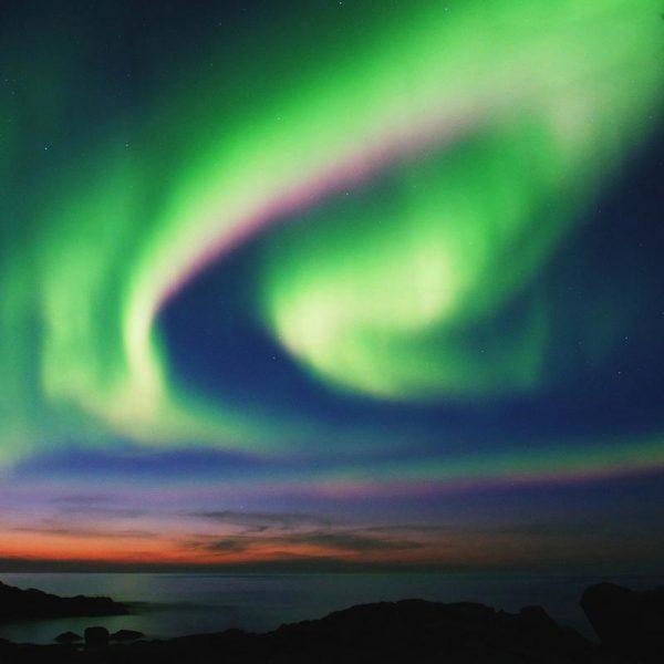The Northern Lights 02 Leinwandbild