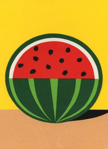 Three Quarter Melon Leinwandbild