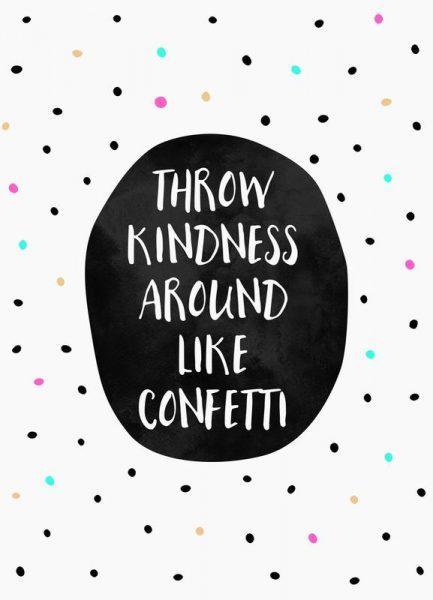 Throw Kindness Leinwandbild