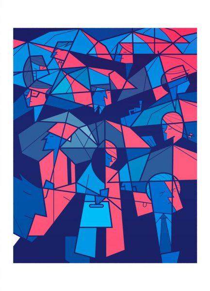 Tokyo Frames Rain Leinwandbild