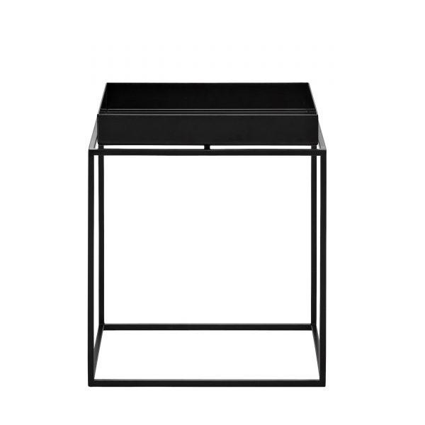 Tray Table Beistelltisch schwarz 30x30