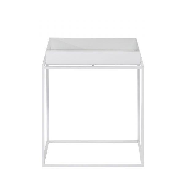 Tray Table Beistelltisch weiß 30x30