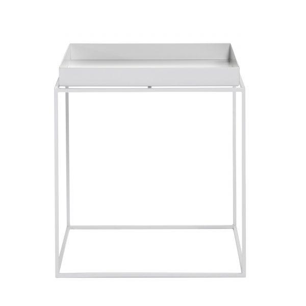 Tray Table Beistelltisch weiß 40x40