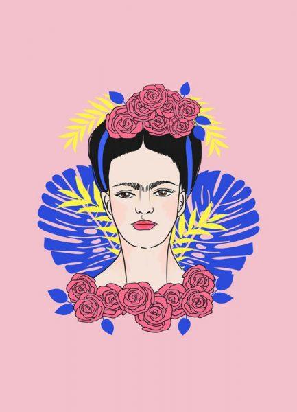 Tribute to Frida Leinwandbild