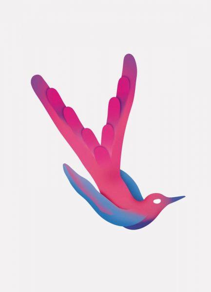 Tropical Pink Bird Leinwandbild