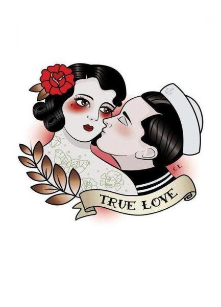 True Love Leinwandbild