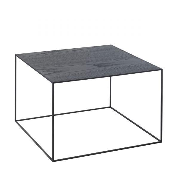 Twin Beistelltisch 49x49 schwarz esche-cool grey