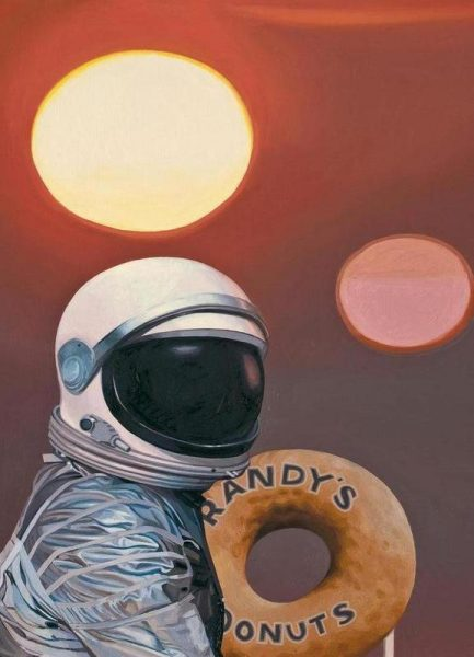 Twin Suns And Donuts Leinwandbild