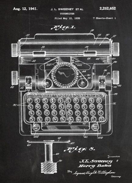 Typewriter Leinwandbild