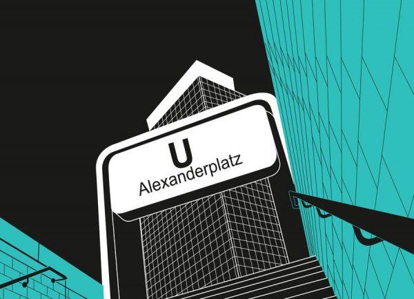 U Bahnhof Alexanderplatz Leinwandbild