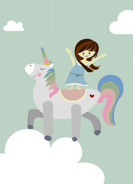 Unicorn Leinwandbild